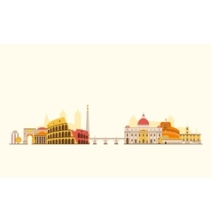 Rome abstract skyline vector image vector image