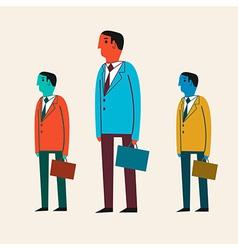 a cartoon businessman vector image