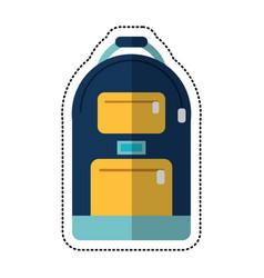 cartoon backpack school design image vector image