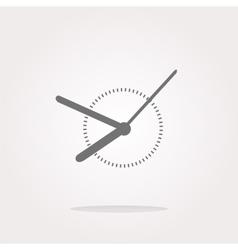 Clock icon web button sign Web Icon Art vector image vector image