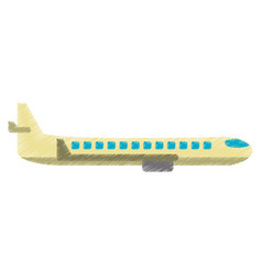 drawing airplane transport flying image vector image vector image