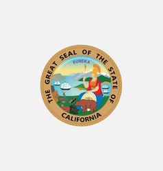 flag of california usa vector image