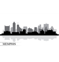 memphis city skyline silhouette background vector image vector image