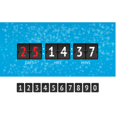 new year countdown banner vector image vector image