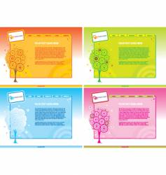 template backgrounds vector image