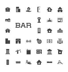 33 building icons vector