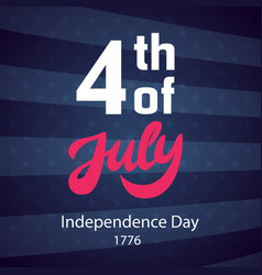 4th of july retro poster template vector image