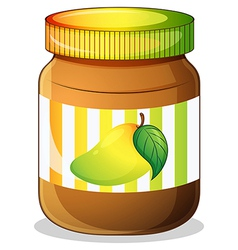 A mango jam in a bottle vector image vector image