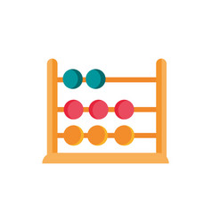 Abacus school and education icon vector