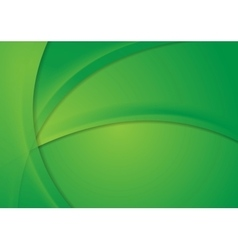 Abstract bright green corporate wavy background vector