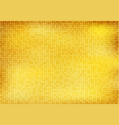 Abstract shiny golden square mosaic pattern vector