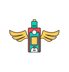 Angel wing vape vaporizer electric cigarette vector