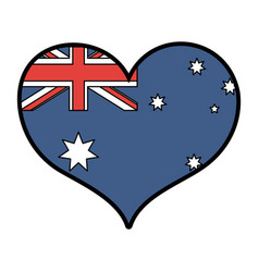 Australian flag design vector