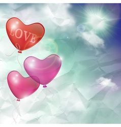 background card or banner balloons vector image