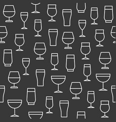 beverage glasses seamless pattern for wallpaper vector image