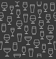 beverage glasses seamless pattern for wallpaper vector image