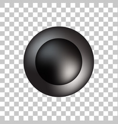 Black bubble icon badge with light background vector
