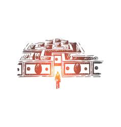 businessman entering money maze vector image