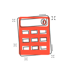 cartoon calculator icon in comic style calculate vector image