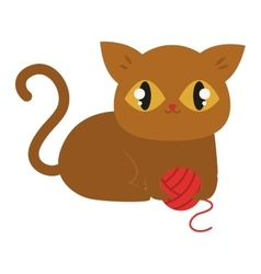 Cartoon cat character vector