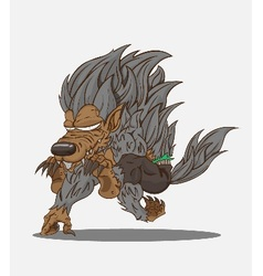 Cartoon werewolf and vector