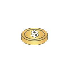 Casino chip computer symbol vector