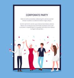 Celebrating people confetti vector