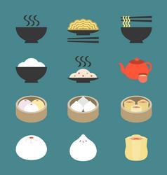 Chinese cuisine dim sum vector