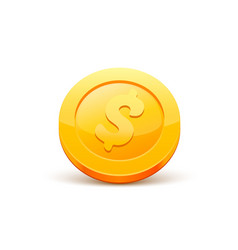 coins dollar gold sign vector image