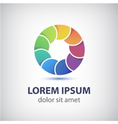 Colorful rainbow loop circle icon vector