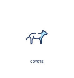 Coyote concept 2 colored icon simple line element vector