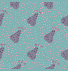 creative pears seamless pattern on dots vector image
