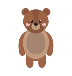 Cute little bear animal character vector