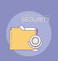 Cyber security emblem vector