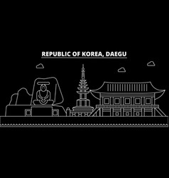 Daegu silhouette skyline south korea - daegu vector