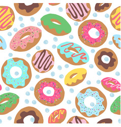 Donut toss with dots white vector