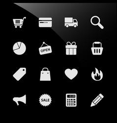 ecommerce shopping web icons a set of ecommerce vector image