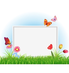 Empty white frame vector