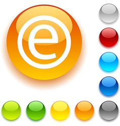Enternet button vector