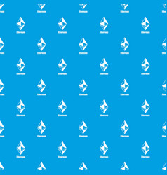 ethereum pattern seamless blue vector image
