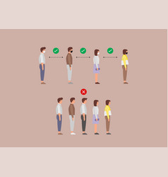 example people standing in line against at a vector image