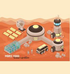 extraterrestrial base landscape background vector image