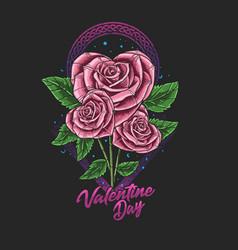 Flower valentine day vector