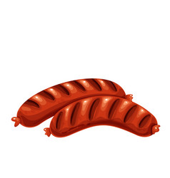 grilled sausages bbq food vector image