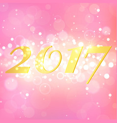 Happy new year 2017 on pink abstract background vector
