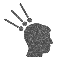 Head test connectors grainy texture icon vector