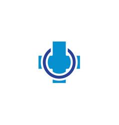 healthcare cross logo design concept vector image