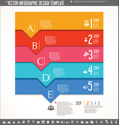 infographic design template colorful design 7 vector image