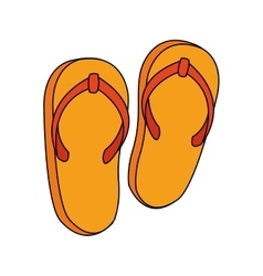 Isolated sandals design vector