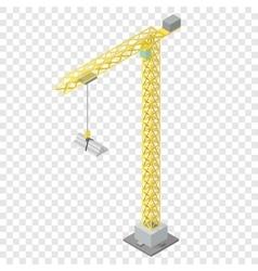 Isometric industrial crane vector image